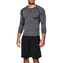 Buy Under Armour HeatGear Armour Long Sleeve Compression Shirt, Grey Online at johnlewis.com