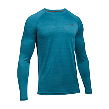 Buy Under Armour Tech Patterned Long Sleeve Training T-Shirt, Blue Online at johnlewis.com
