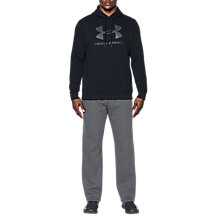 Buy Under Armour Rival Fitted Graphic Hoodie, Black/Stealth Grey Online at johnlewis.com
