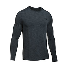 Buy Under Armour Threadborne Seamless Long Sleeve T-Shirt, Graphite Online at johnlewis.com
