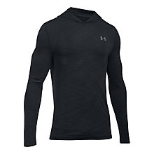 Buy Under Armour Threadborne Fleece Half Zip Training Hoodie, Black Online at johnlewis.com