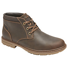 Buy Rockport Tough Bucks Waterproof Chukka Shoes, Brown Online at johnlewis.com