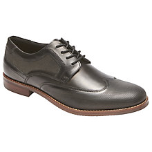 Buy Rockport Style Purpose Perforated Wingtip Shoes, Black Online at johnlewis.com