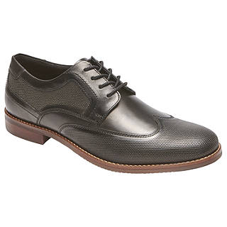 Rockport Style Purpose Perforated Wingtip Shoes, Black