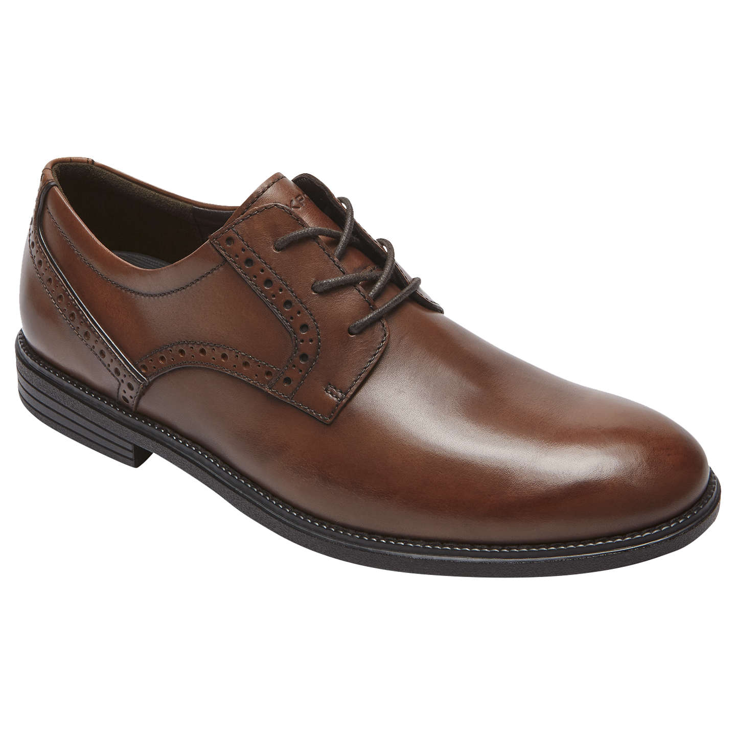 BuyRockport Madson Derby Leather Shoes, Tan, 7 Online at johnlewis.com ...