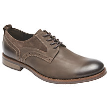 Buy Rockport Wynstin Derby Shoes, Brown Online at johnlewis.com