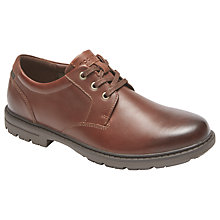 Buy Rockport Tough Bucks Plain Toe Shoes, Brown Online at johnlewis.com