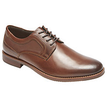 Buy Rockport Style Purpose Perforated Plain Toe Shoes, Brown Online at johnlewis.com