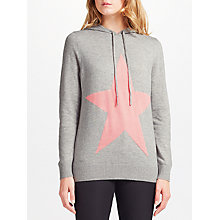 Buy Collection WEEKEND by John Lewis Star Intarsia Hoodie, Grey Online at johnlewis.com