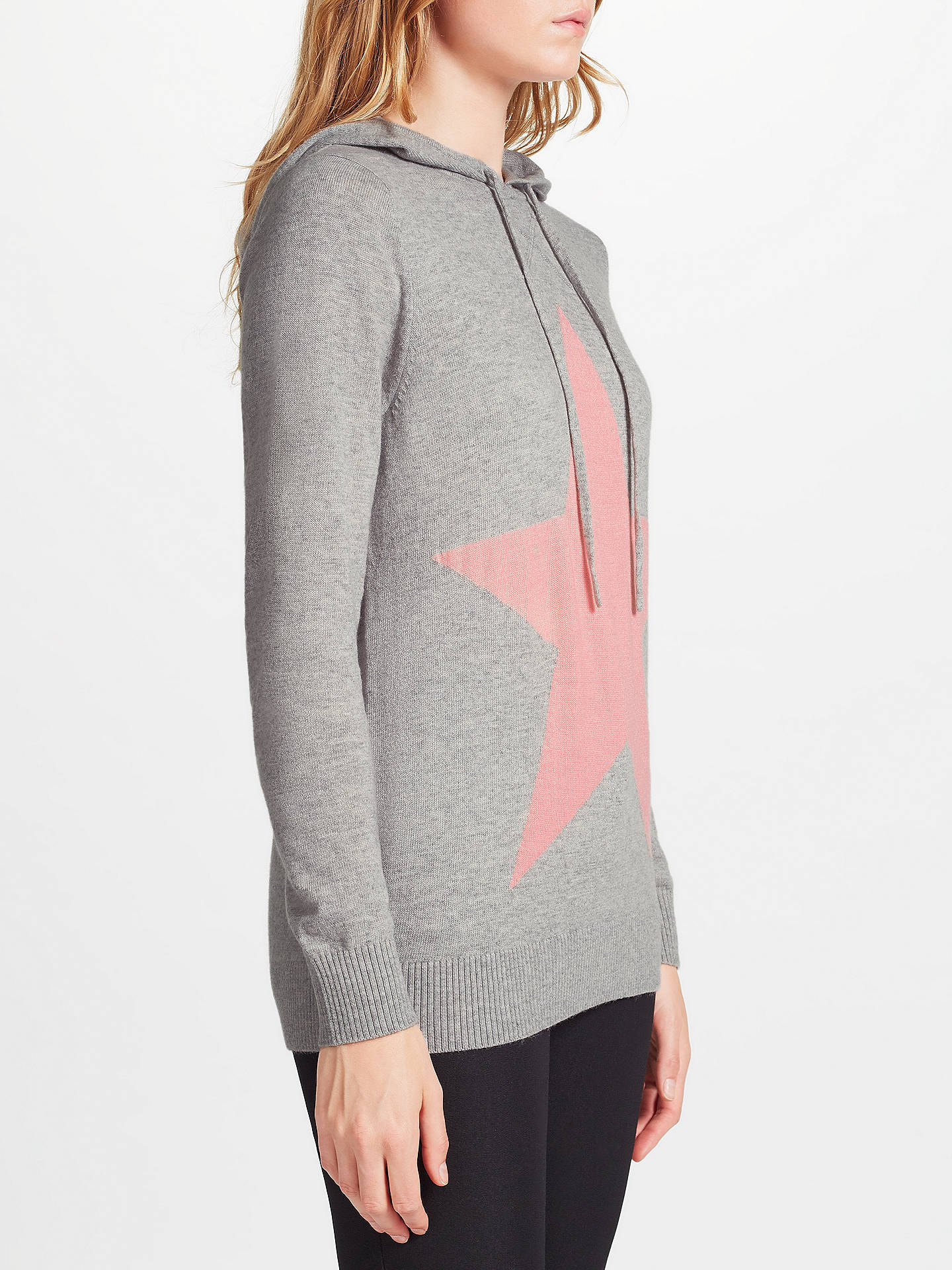 BuyCollection WEEKEND by John Lewis Star Intarsia Hoodie, Grey, 8 Online at johnlewis.com