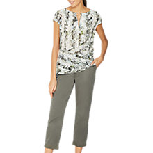 Buy Mint Velvet Immy Print Silk Front Tee, Multi Online at johnlewis.com
