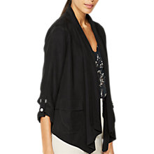 Buy Mint Velvet Patch Soft Organic Jacket, Black Online at johnlewis.com