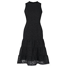 Buy L.K. Bennett Beda Cotton-Mix Dress, Black Online at johnlewis.com