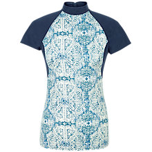 Buy Fat Face Etched Swim Top, Ivory Online at johnlewis.com
