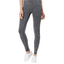 Buy L.K. Bennett Heidi Stripe Panel Stretch Leggings, Grey Melange Online at johnlewis.com