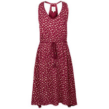 Buy Fat Face Penhale Abstract Shells Printed Dress, Beet Online at johnlewis.com