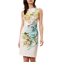 Buy Hobbs Priscilla Floral Dress, Latte Beige Multi Online at johnlewis.com