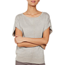 Buy Mint Velvet Metallic Wrap Back Knit Top, Latte Online at johnlewis.com