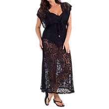 Buy Chesca Lace Maxi Dress Cover Up, Black Online at johnlewis.com