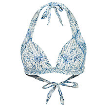 Buy Fat Face Etched Cody Bikini Top, Ivory Online at johnlewis.com