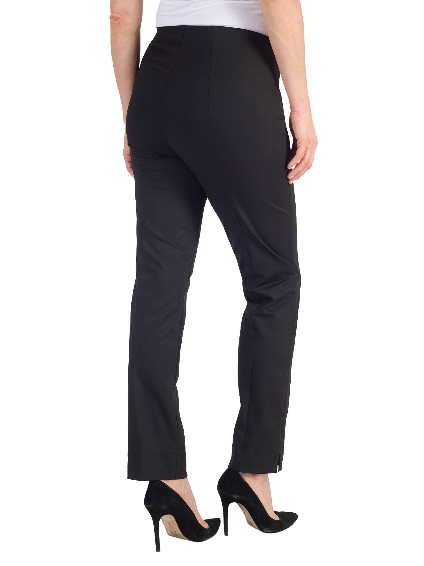 BuyChesca Stretch Slim Leg Trousers, Black, 12 Online at johnlewis.com