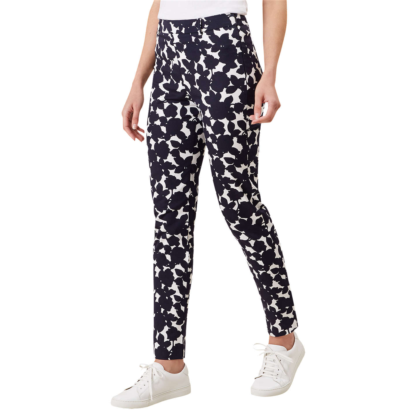 BuyHobbs Mallory Capri Trousers, Navy Ivory, 16 Online at johnlewis.com
