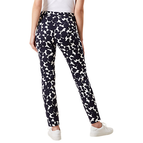 Buy Hobbs Mallory Capri Trousers, Navy Ivory Online at johnlewis.com