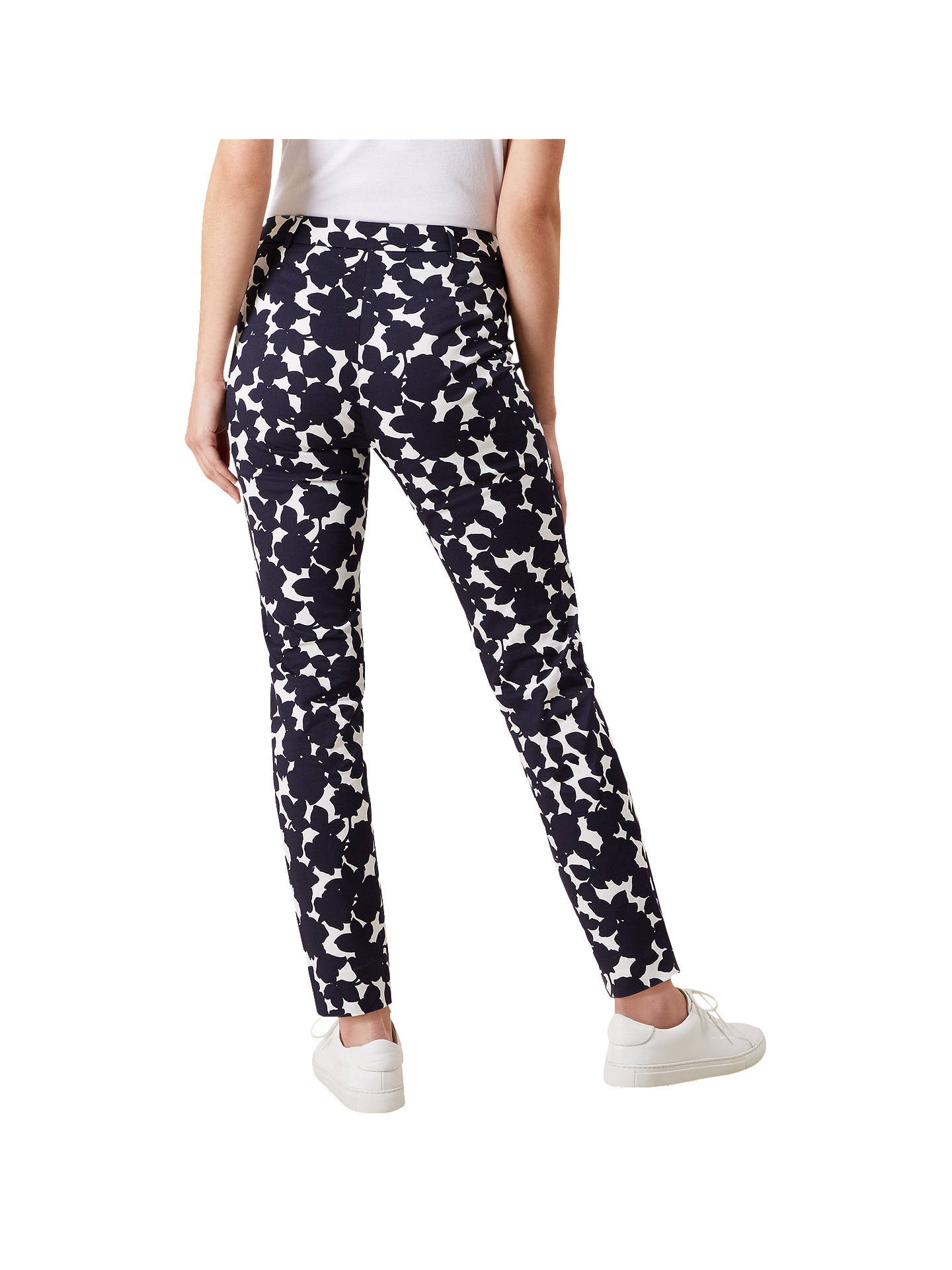 BuyHobbs Mallory Capri Trousers, Navy Ivory, 6 Online at johnlewis.com