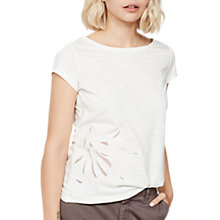 Buy Mint Velvet Cutwork Flower Tee, Ivory Online at johnlewis.com