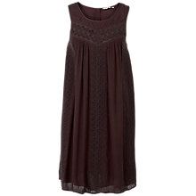 Buy Fat Face Abigail Embroidered Dress, Blackberry Online at johnlewis.com