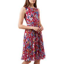 Buy Hobbs Meera Abstract Floral Print Dress, Magenta Multi Online at johnlewis.com