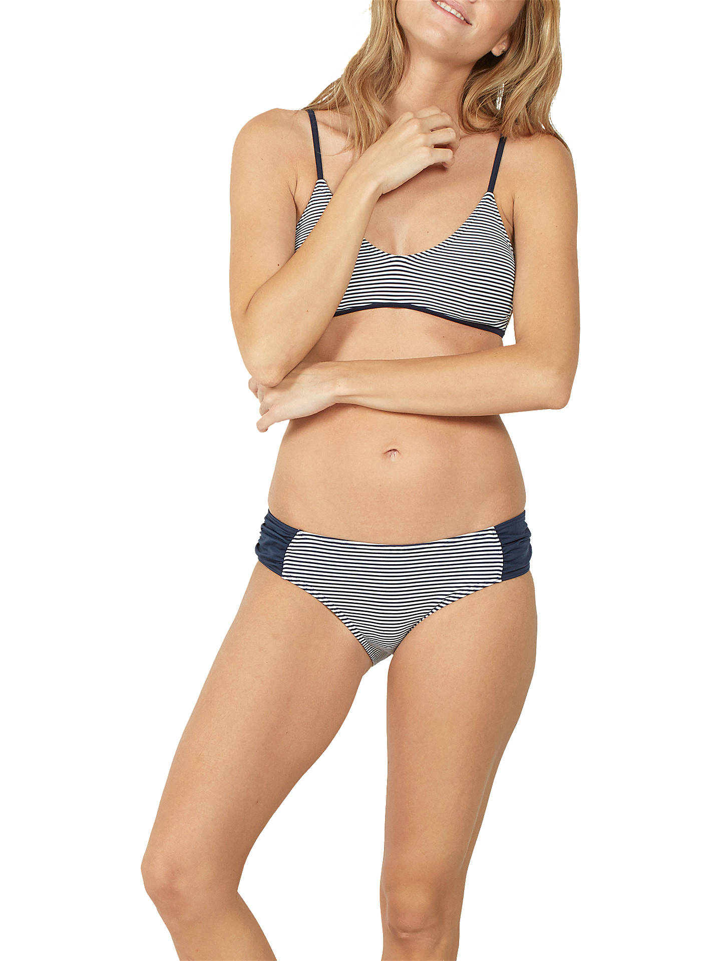 BuyFat Face Breton Sporty Bikini Top, Navy, 6 Online at johnlewis.com