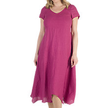 Buy Chesca Linen Dress, Raspberry Online at johnlewis.com