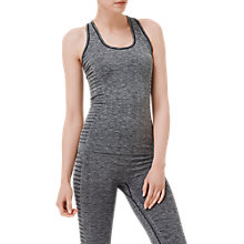 Buy L.K. Bennett Heidi Stripe Panel Sports Vest, Grey Melange Online at johnlewis.com