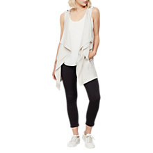 Buy Mint Velvet Cupro Front Waistcoat Cardigan, Neutral Online at johnlewis.com