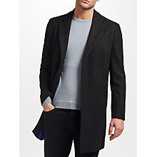 Buy Kin by John Lewis Herringbone Overcoat, Black Online at johnlewis.com