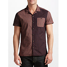 Buy JOHN LEWIS & Co. Japanese Multi Check Short Sleeve Shirt, Red Online at johnlewis.com