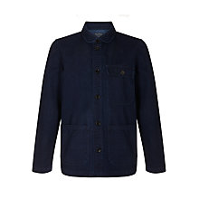 Buy JOHN LEWIS & Co. Denim French Workwear Shirt Jacket, Navy Online at johnlewis.com