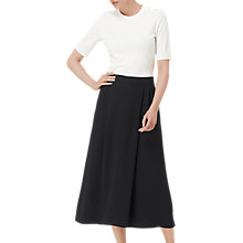 Buy L.K. Bennett Gina Wide Leg Trousers, Black Online at johnlewis.com