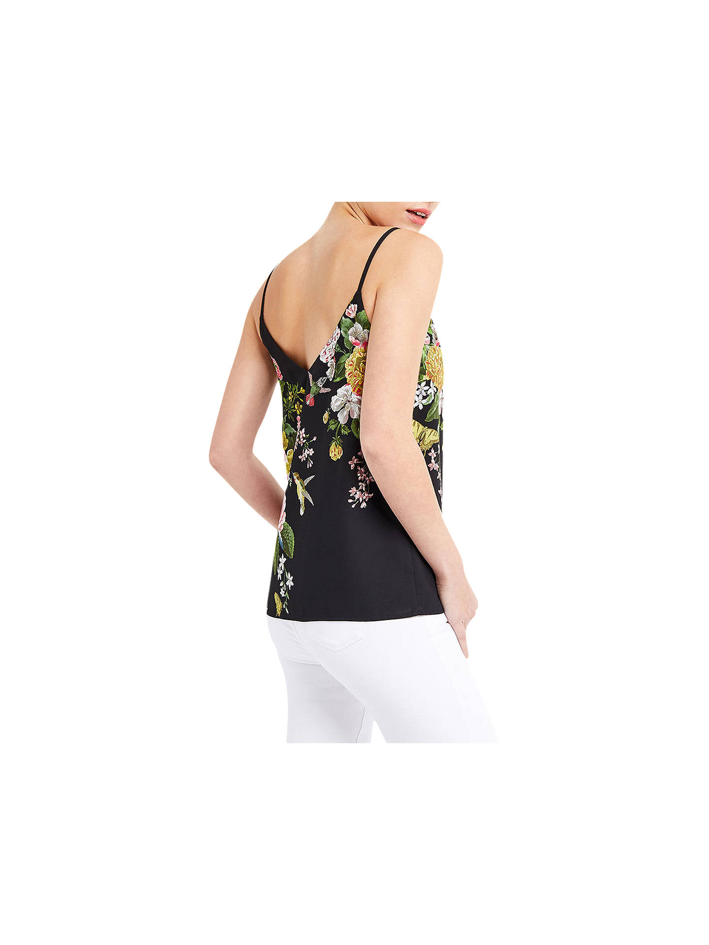 BuyOasis Floral Placement Camisole, Black, 6 Online at johnlewis.com