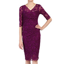 Buy Jolie Moi V-Neck Ruched Lace Dress Online at johnlewis.com