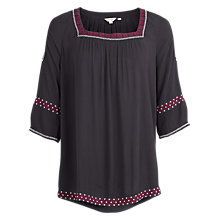 Buy Fat Face Eleana Embroidered Cold Shoulder Popover Top Online at johnlewis.com
