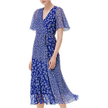 Buy L.K. Bennett Elif Silk Dress, Blue Online at johnlewis.com