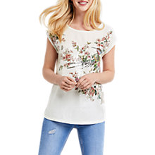 Buy Oasis Royal Worcester Collection Maybelle Sequin T-Shirt, Multi Online at johnlewis.com