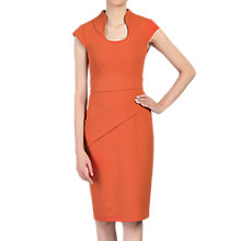 Buy Jolie Moi Retro Neckline Dress, Orange Online at johnlewis.com