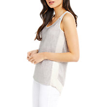 Buy Oasis Crinkle Foil Wrap Back Vest, Silver Online at johnlewis.com