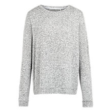 Buy Fat Face Soft Crew Neck Jumper, Grey Marl Online at johnlewis.com