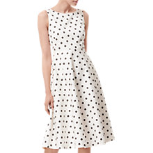 Buy L.K. Bennett Octavia Hoop Print Dress, White/Black Online at johnlewis.com