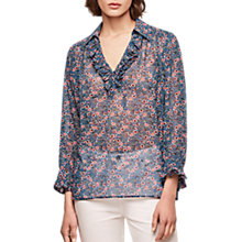 Buy Gerard Darel Floral Blouse, Blue Online at johnlewis.com