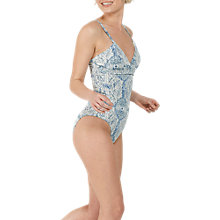 Buy Fat Face Etched Print Swimsuit, Ivory/Multi Online at johnlewis.com
